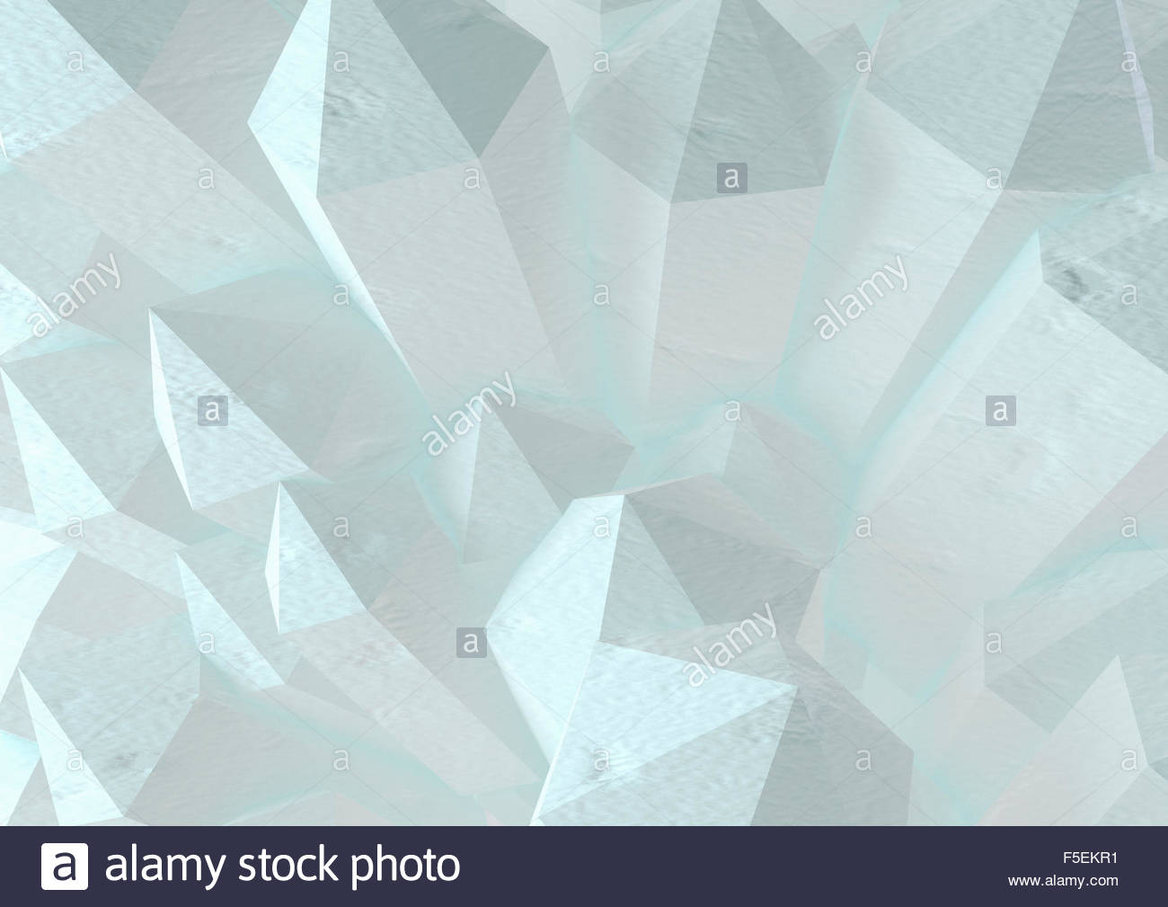 Abstract three dimensional pattern of pointed hexagonal towers - Stock Image