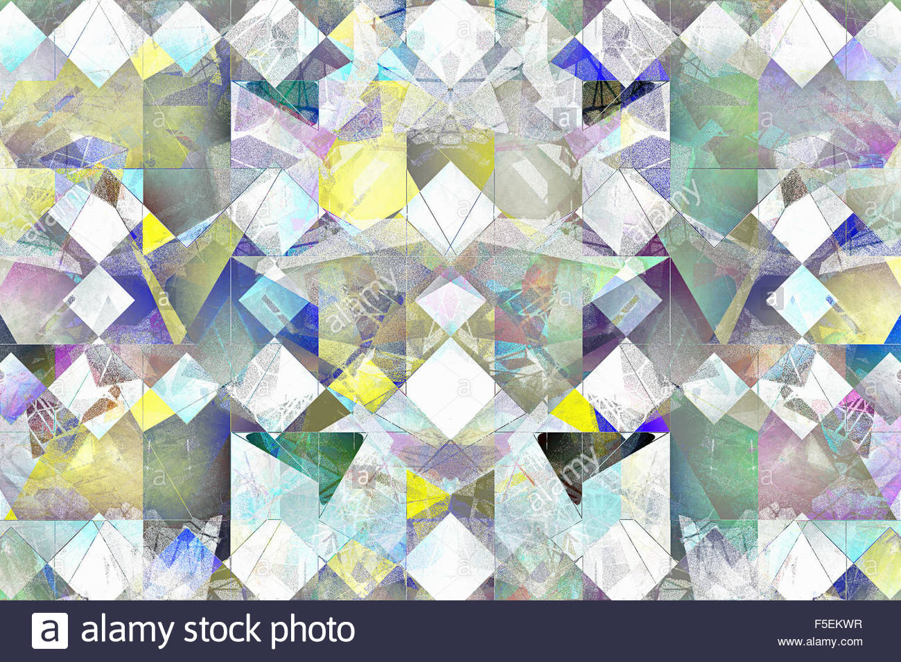 Multi-layered abstract tile pattern - Stock Image