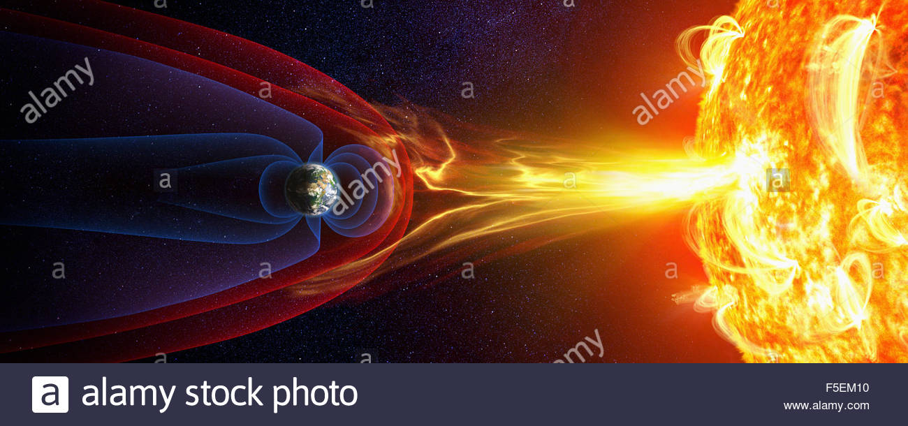 solar storm earth magnetic field - photo #15
