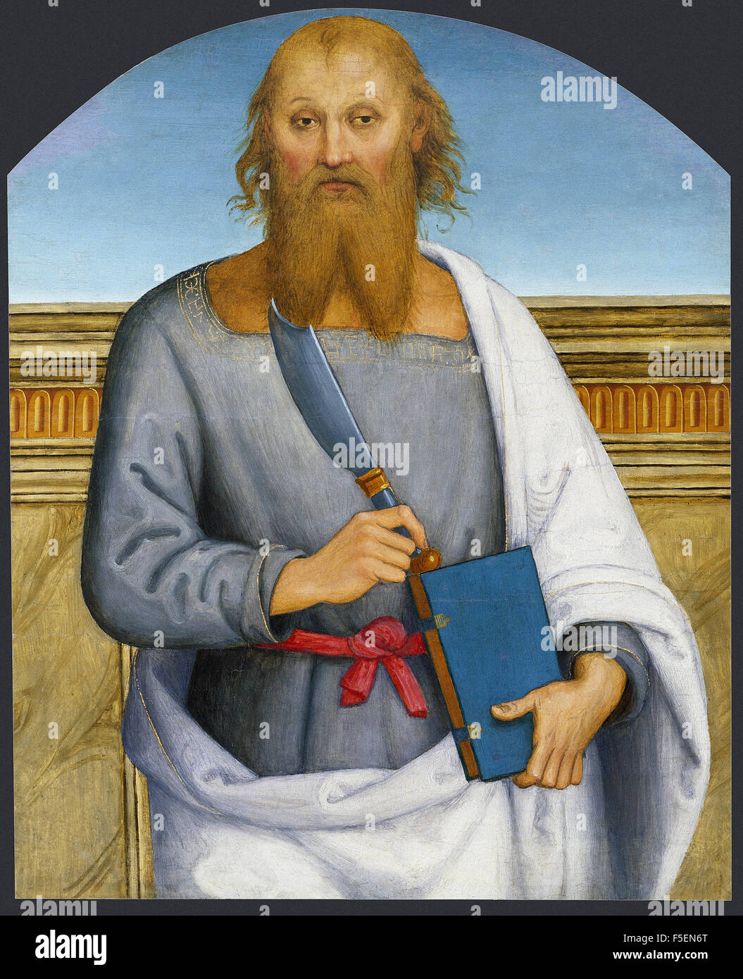 Pietro Perugino - Saint Bartholomew - Stock Image