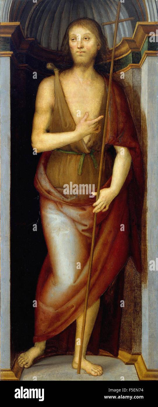 Pietro Perugino - Saint John the Baptist - Stock Image