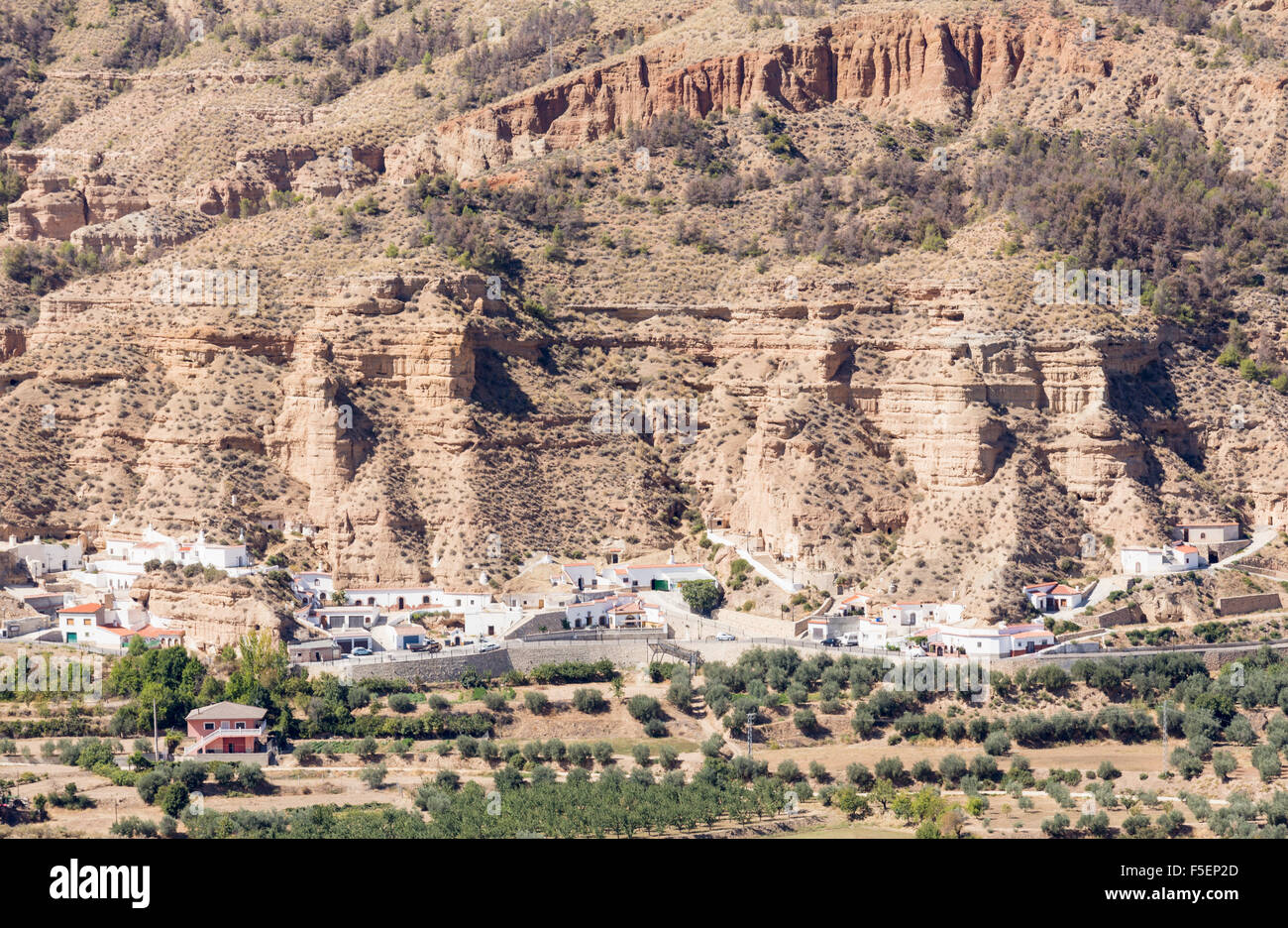 Los Banos village near Guadix, Andalucia, Spain - Stock Image
