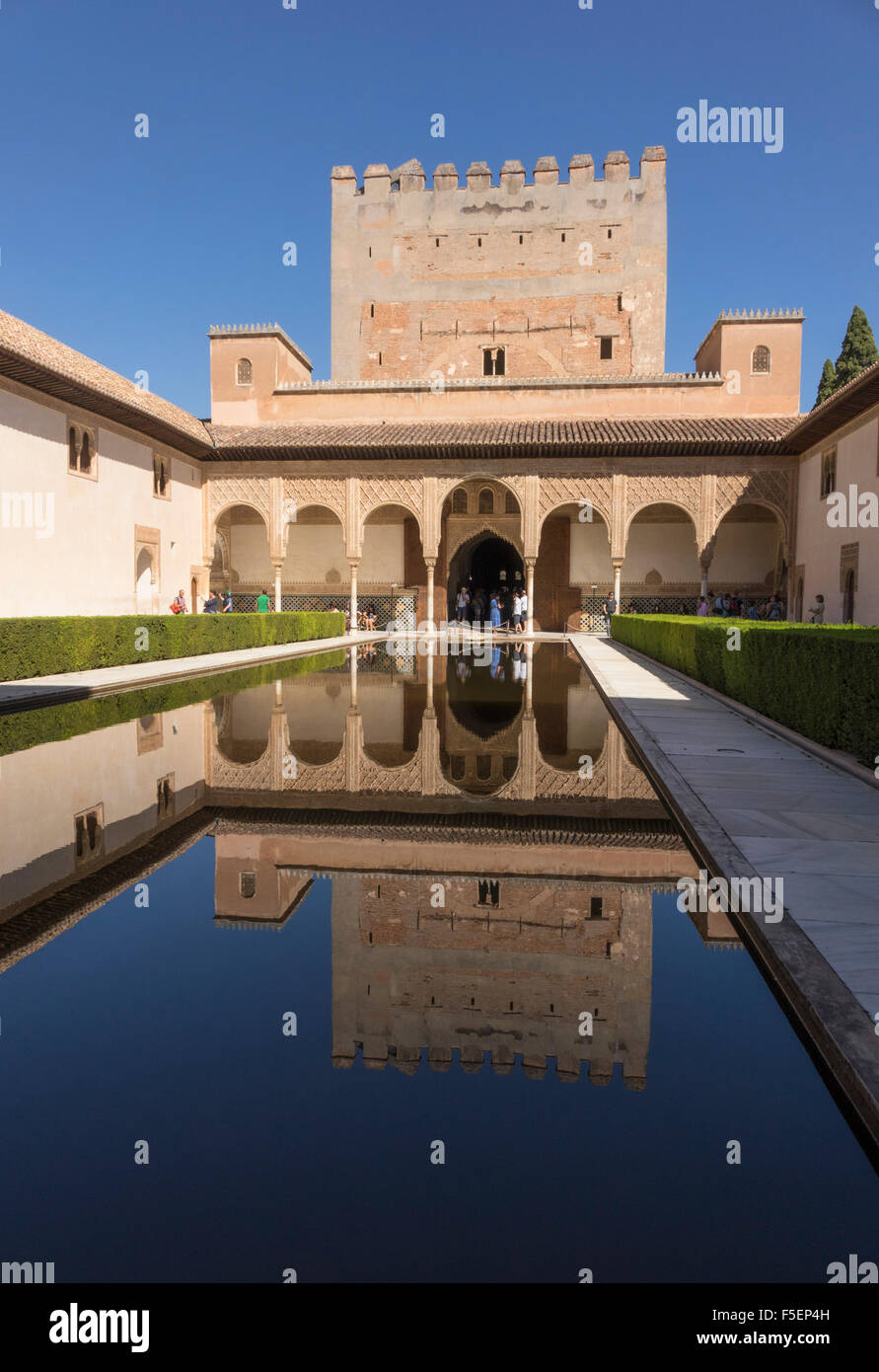 Palacios Nazaries in Alhambra palace, Granada in Andalucia, Spain ...