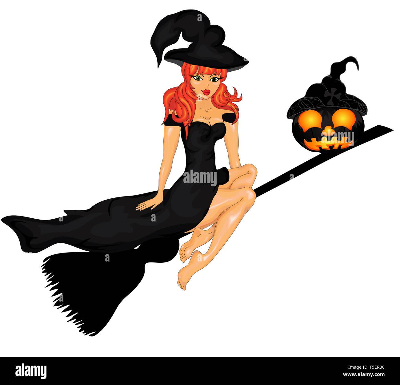 Happy Halloween Poster. Vector illustration.Halloween banner . - Stock Image