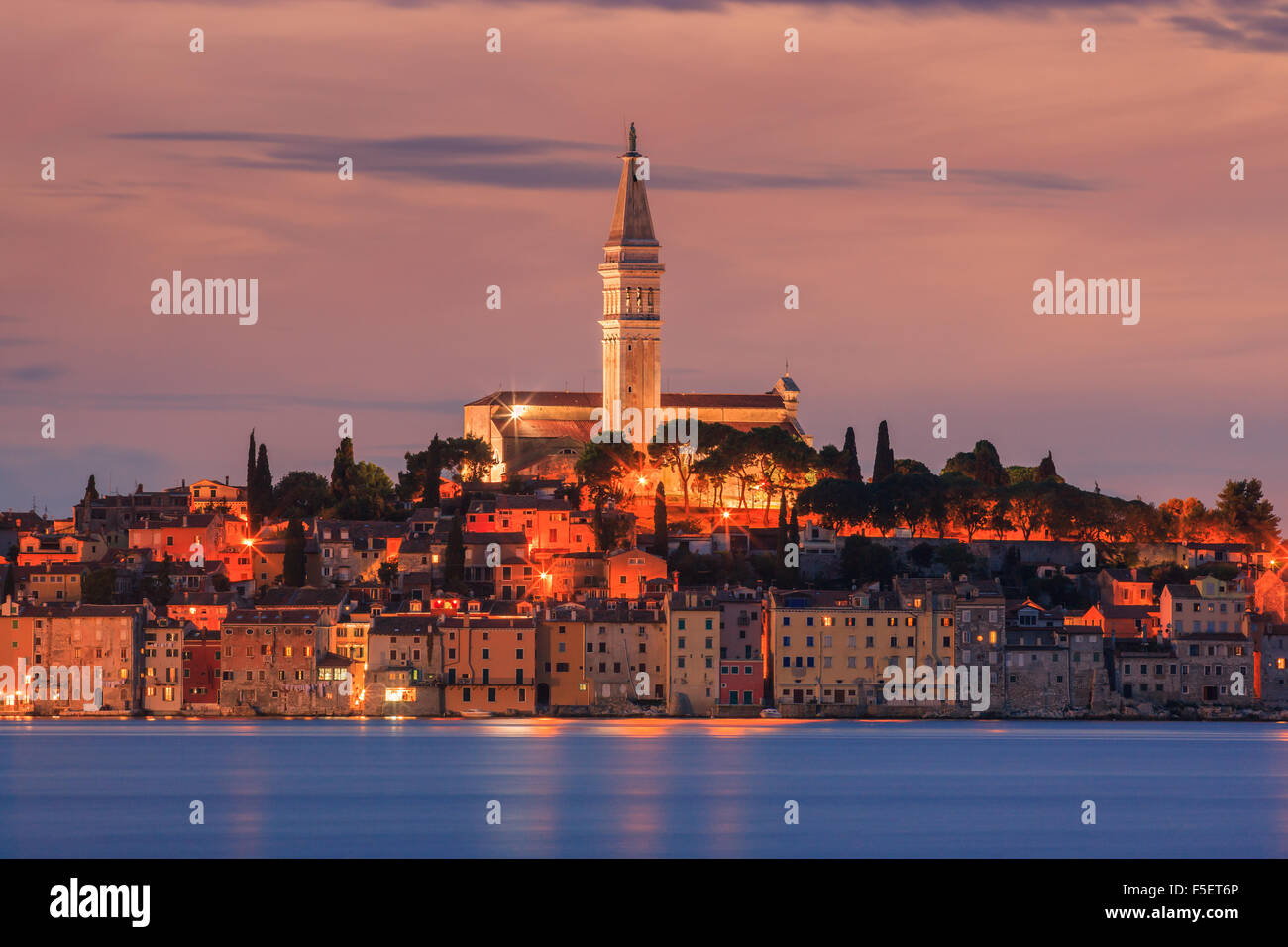 Rovinj is a city in Croatia situated on the north Adriatic Sea. Located on the western coast of the Istrian peninsula - Stock Image