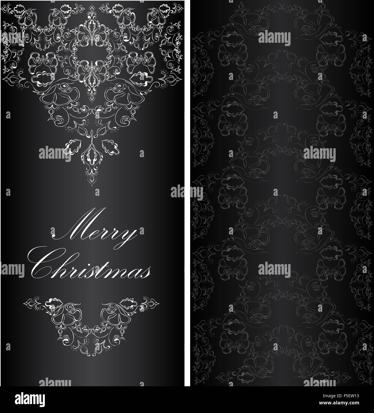 christmas banner in the victorian style stock image