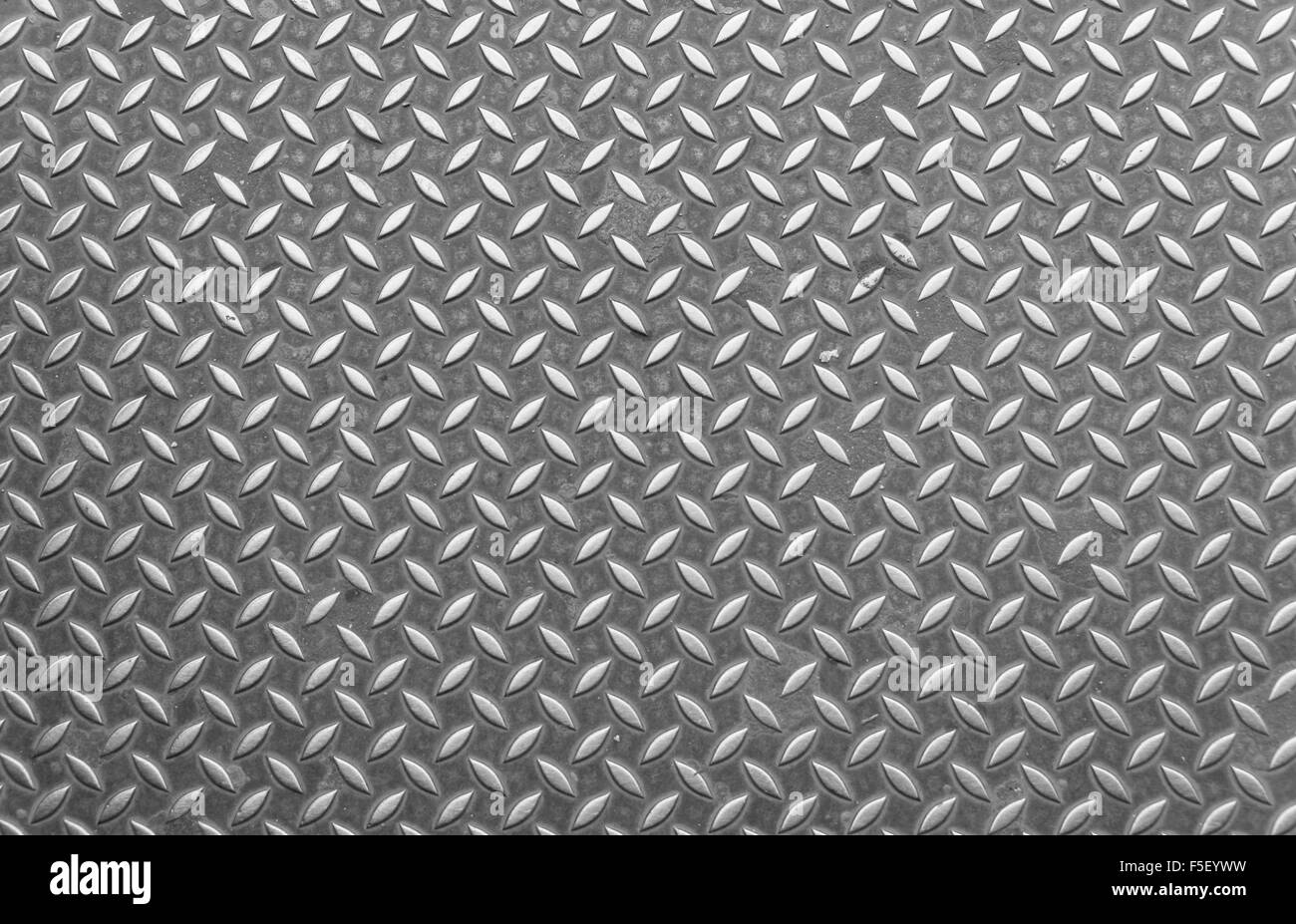Metal sheet, surface detail, rhombuses - Stock Image