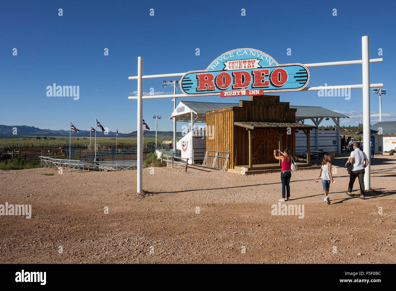 rodeo arena bryce canyon city utah united states stock. Black Bedroom Furniture Sets. Home Design Ideas
