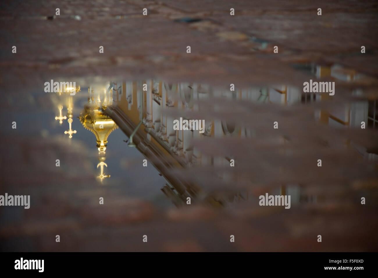 Peterhof Palace Reflexion. - Stock Image