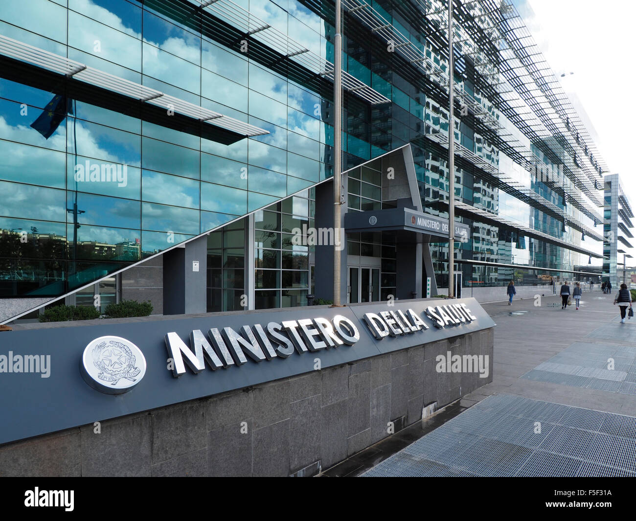 The Italian Ministry of Health building in the EUR district of Rome, Italy - Stock Image