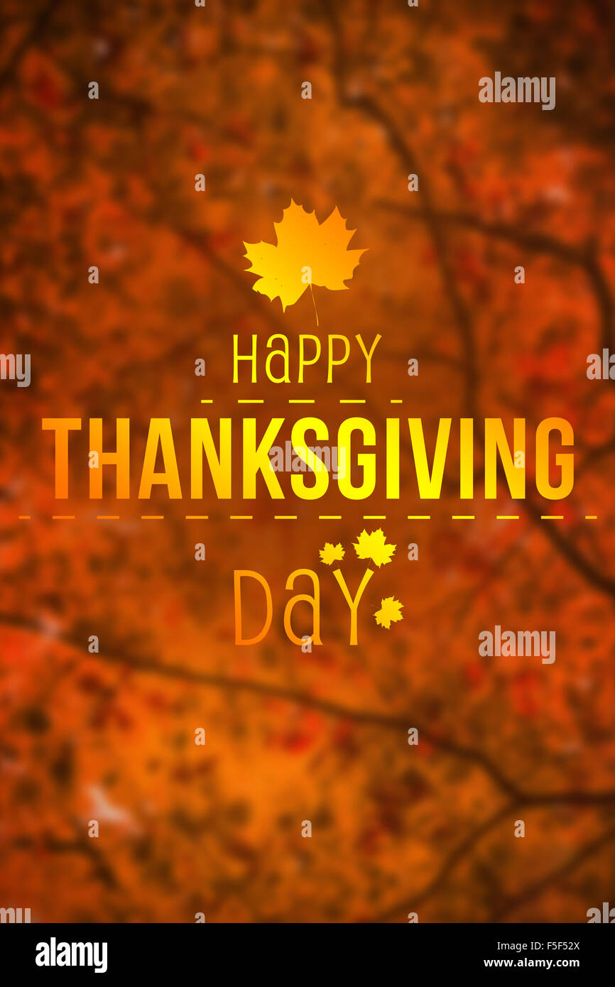 Composite image of happy thanksgiving - Stock Image