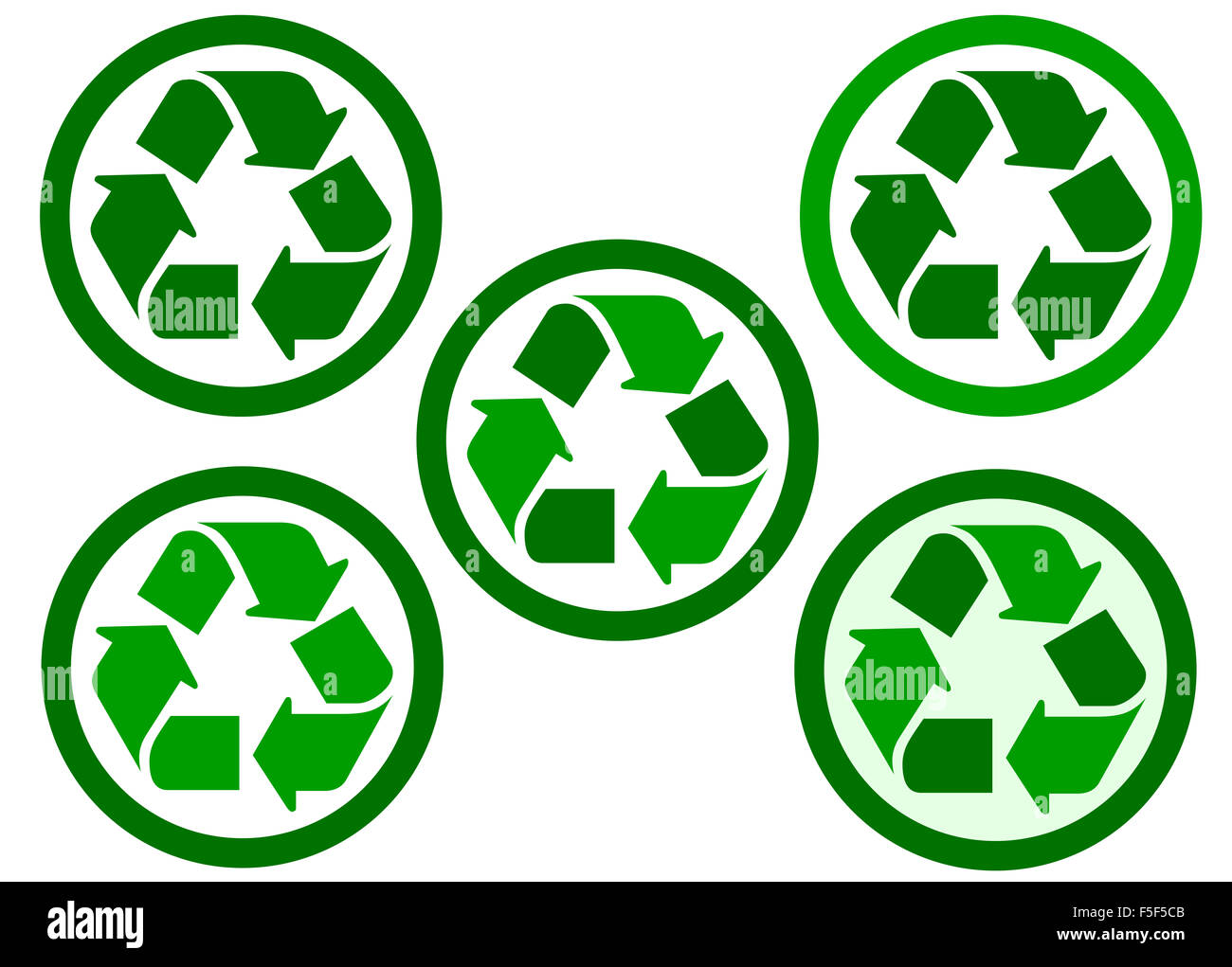 recyclable and recycling icon - Stock Image