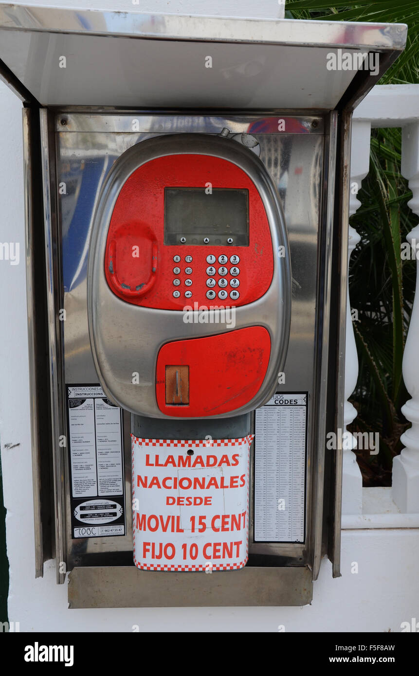 open air payphone booth - Stock Image