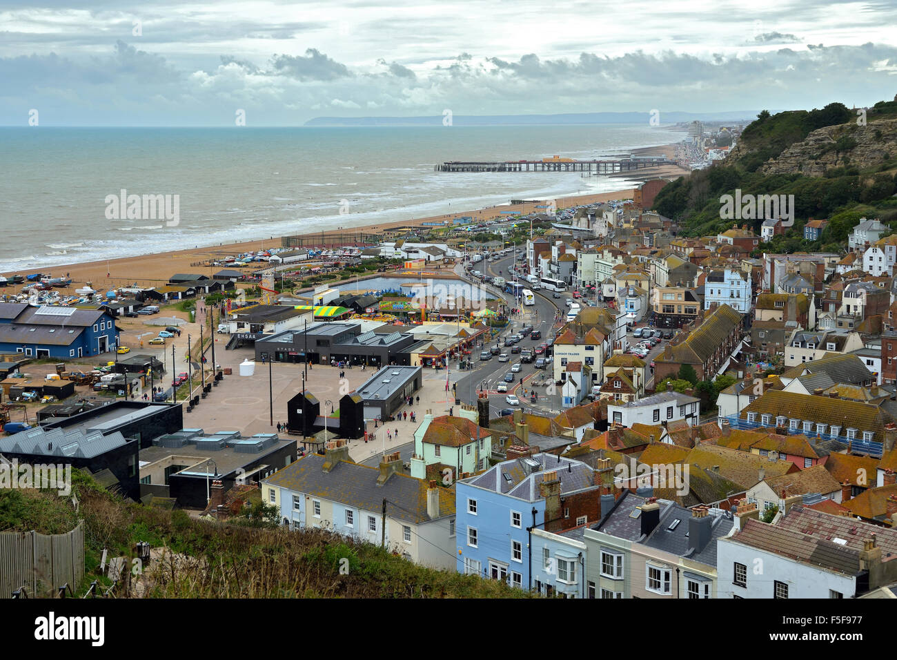 Hastings Old Town - Stock Image