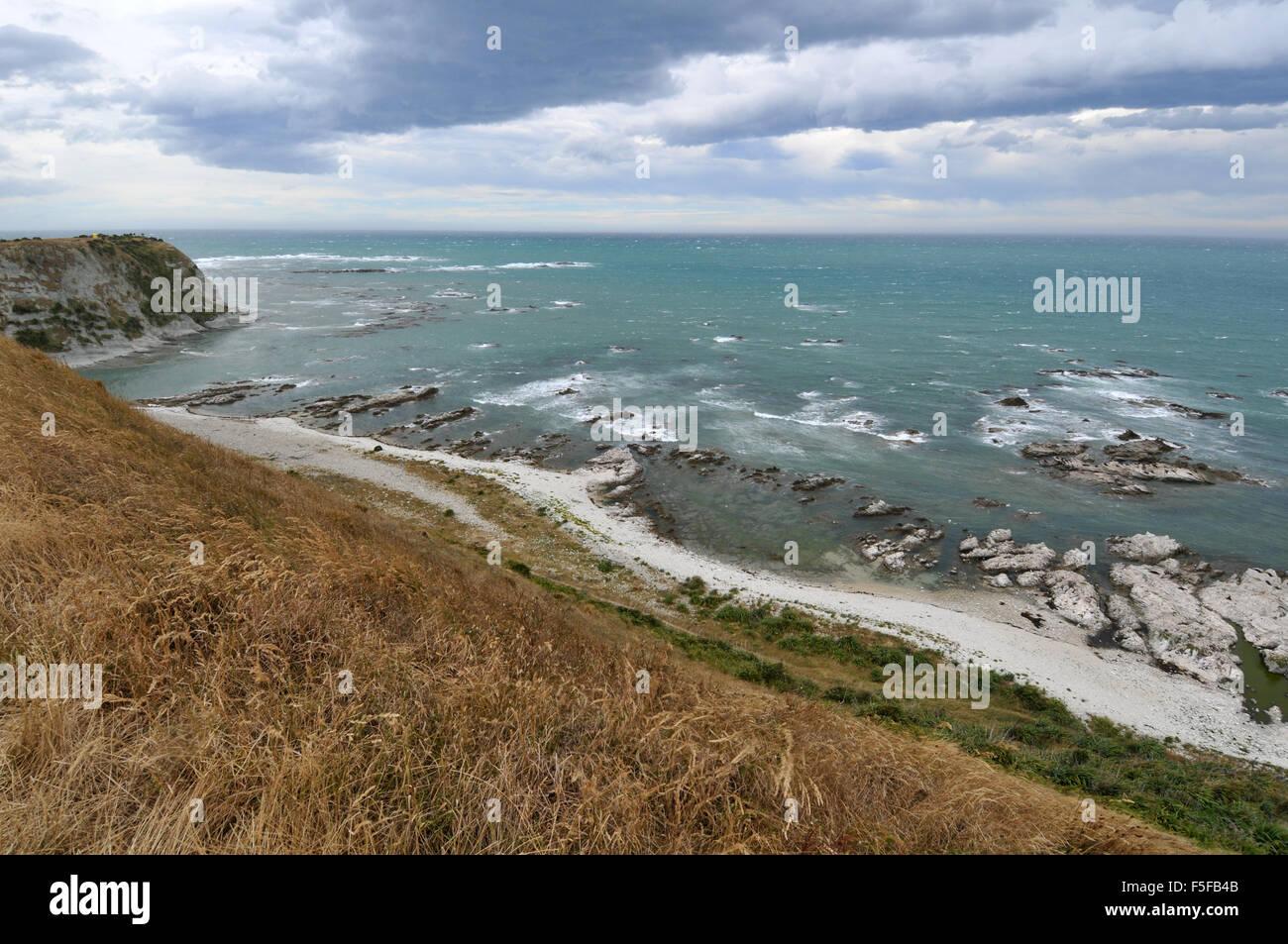 Scenic view from the Peninsula walkway, Kaikoura, South Island, New Zealand - Stock Image