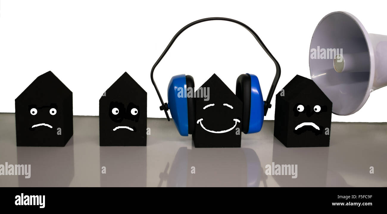 Protection against noise - Stock Image