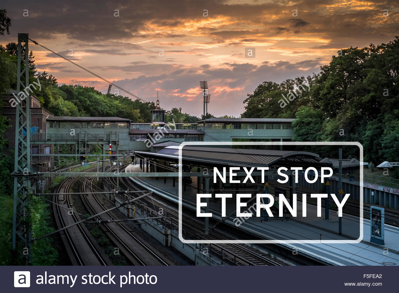 Next stop - Eternity - Stock Image