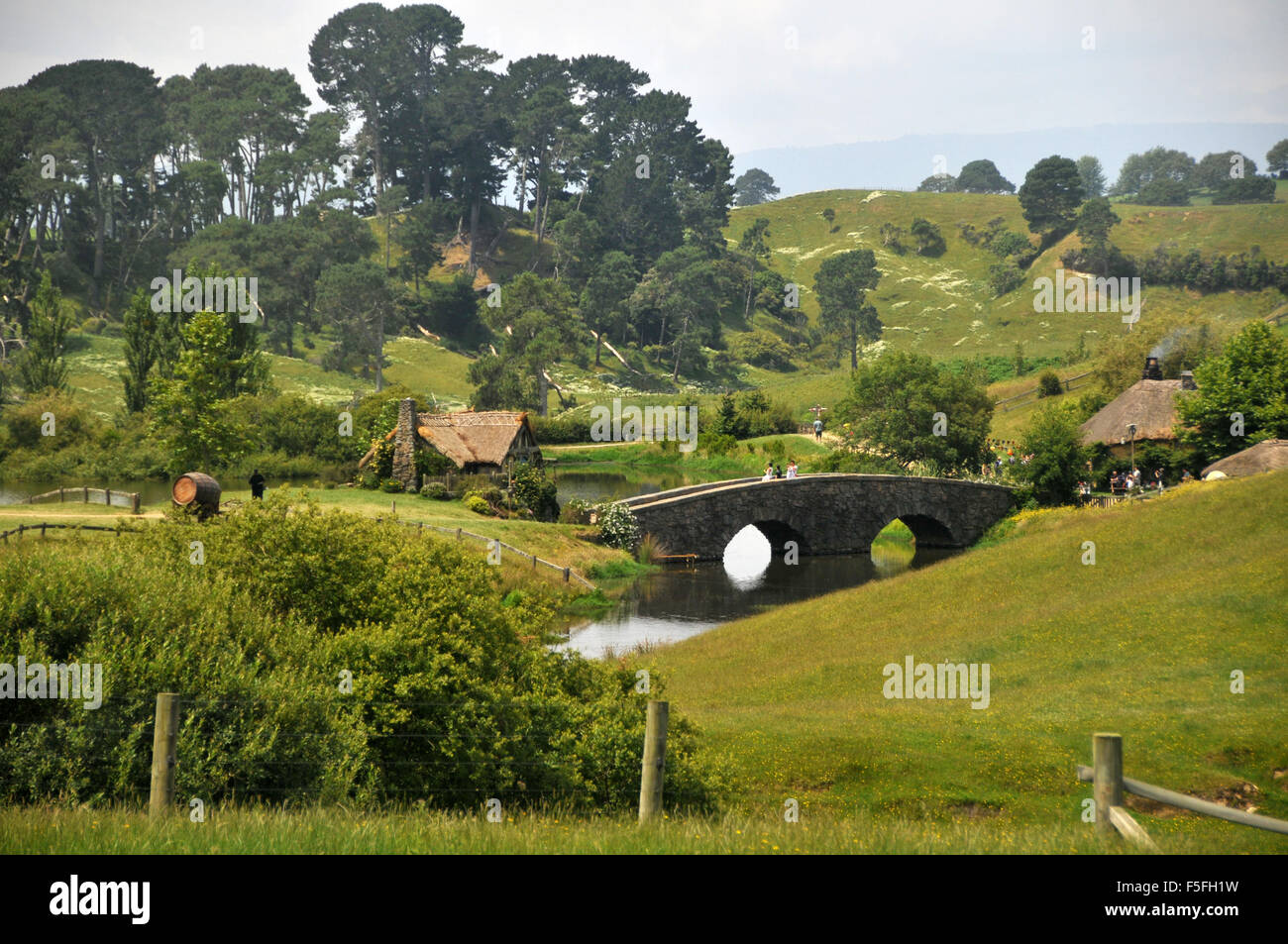 Hobbiton movie set, North Island, New Zealand - Stock Image