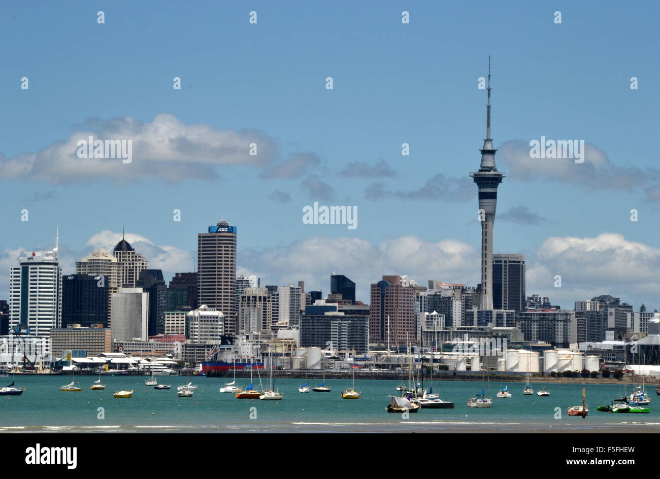 Auckland skyline, New Zealand - Stock Image