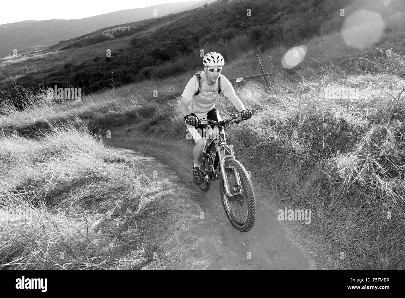 Laguna Beach, California, USA. 06th May, 2012. MTB rider TIM LANE rides the trails in Aliso and Wood Canyons Wilderness Stock Photo