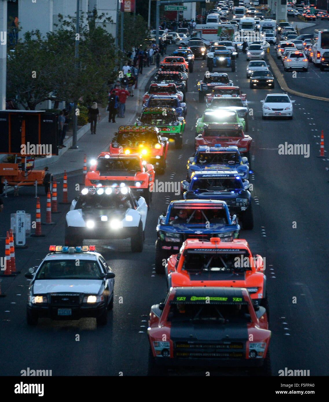 Las Vegas, Nevada, USA. 03rd Nov, 2015. Thousands of people involved in the auto industry attend the Specialty Equipment Market Association (SEMA) shows on Tuesday. The show runs till Friday with hundreds of cars and other automotive products on display.Photo by Gene Blevins/LA DailyNews/ZumaPress © Gene Blevins/ZUMA Wire/Alamy Live News Credit:  ZUMA Press, Inc./Alamy Live News Stock Photo