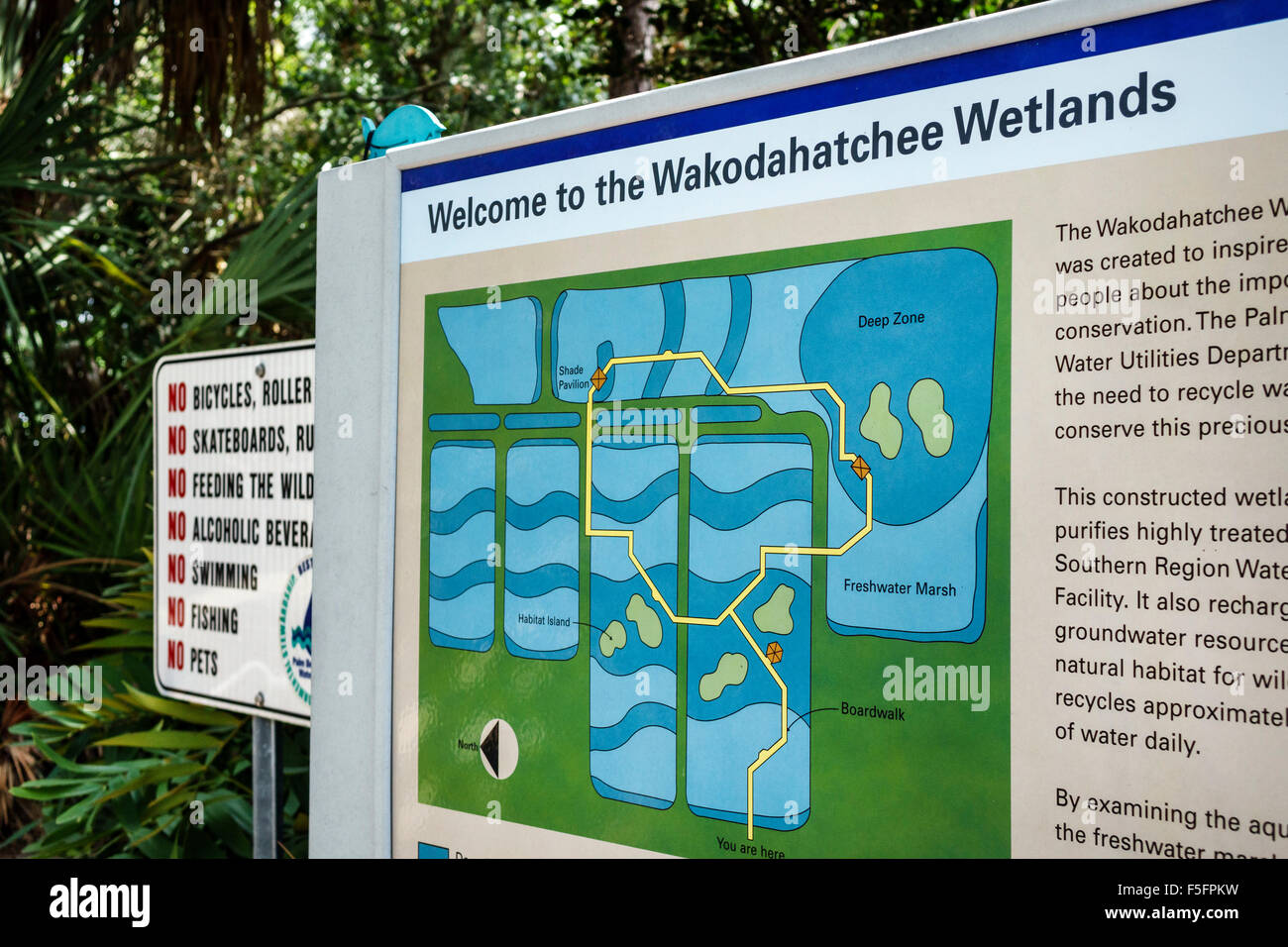 Map Of Florida Delray Beach.Florida Delray Beach Wakodahatchee Wetlands Nature Preserve Sign
