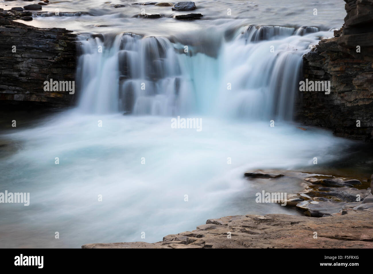 Sheep River Fall - Stock Image