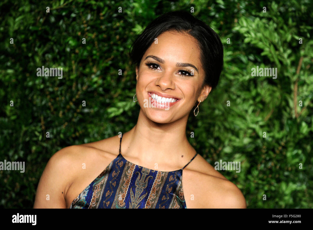 New York City. 2nd Nov, 2015. Misty Copeland attends the 12th annual CFDA/Vogue Fashion Fund Awards at Spring Studios - Stock Image