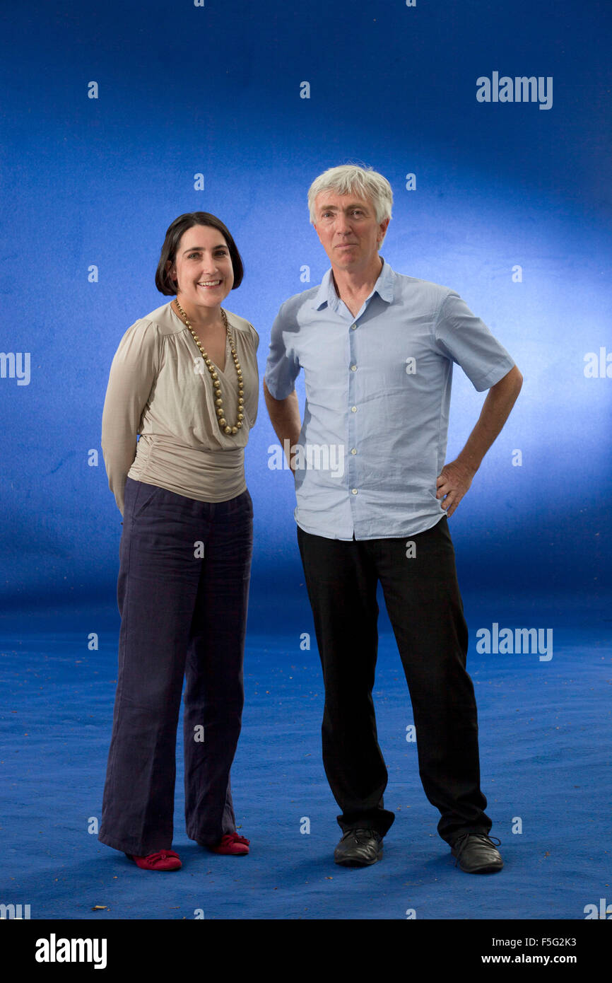 A portrait of Alexandra Harris and John Mullan during the Edinburgh International Book Festival 2012 in Charlotte - Stock Image