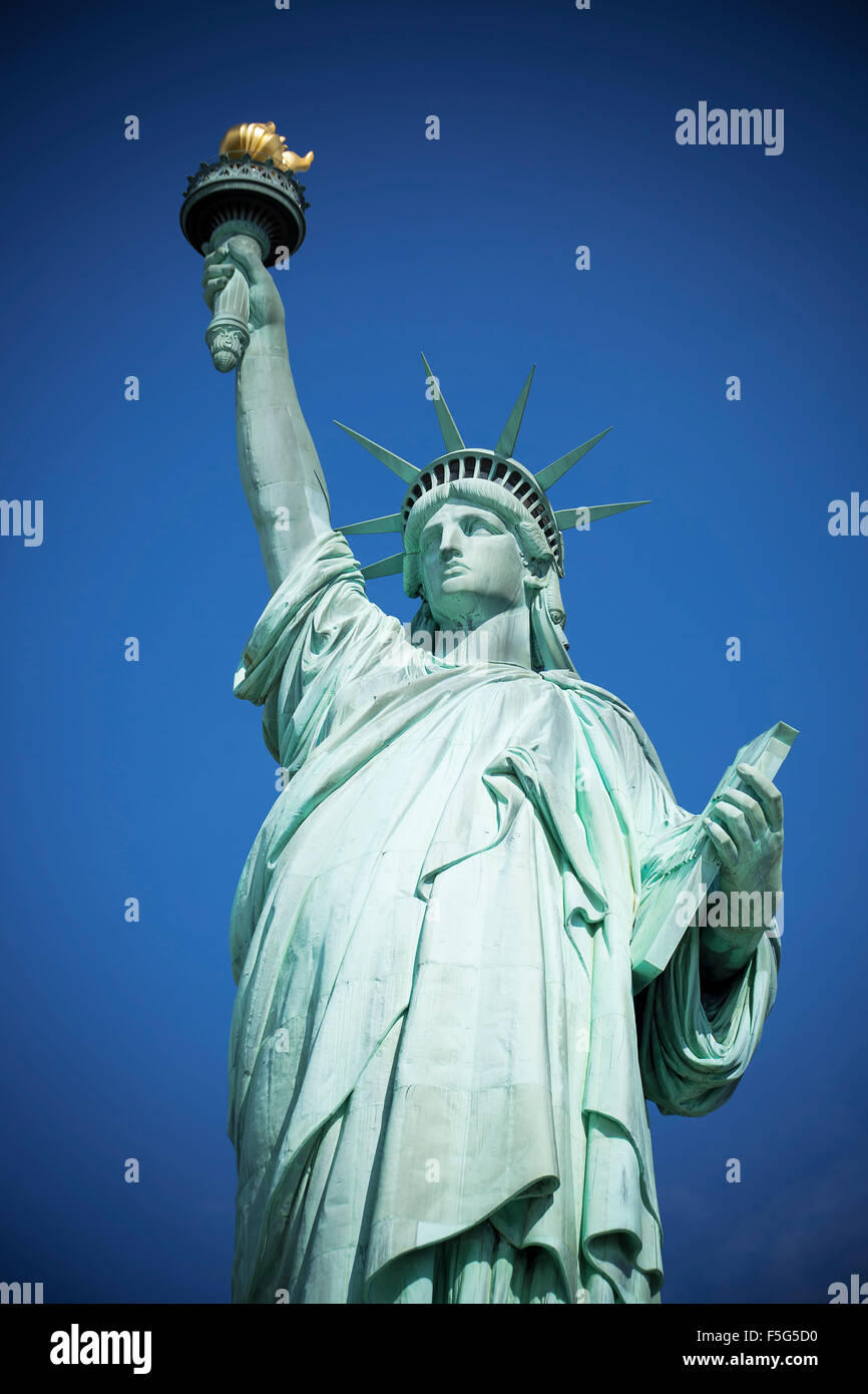 Famous Statue of Liberty, New York, special photographic processing. - Stock Image