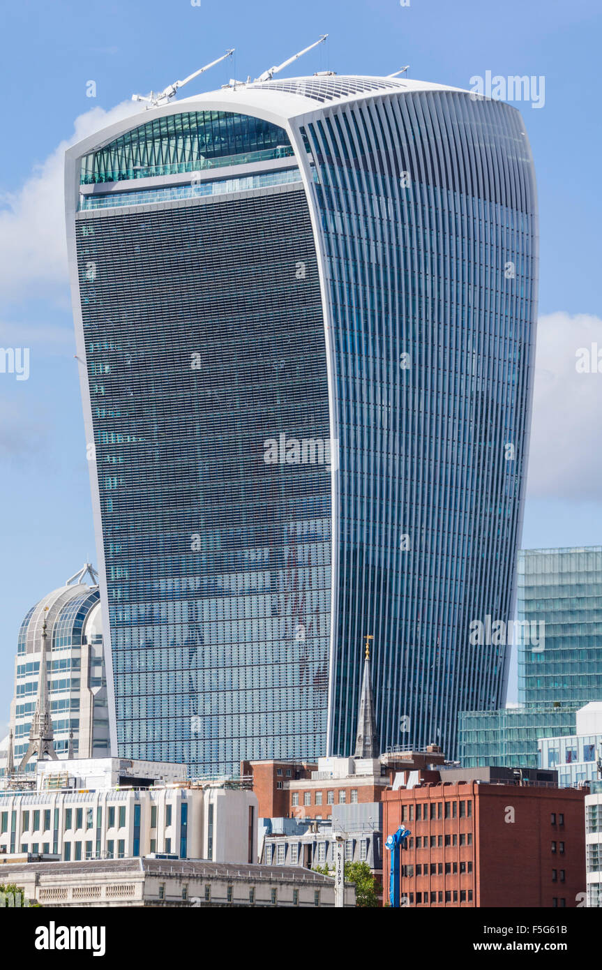 The Walkie talkie skyscraper building or 20 Fenchurch Street City of London  England UK GB EU Europe - Stock Image