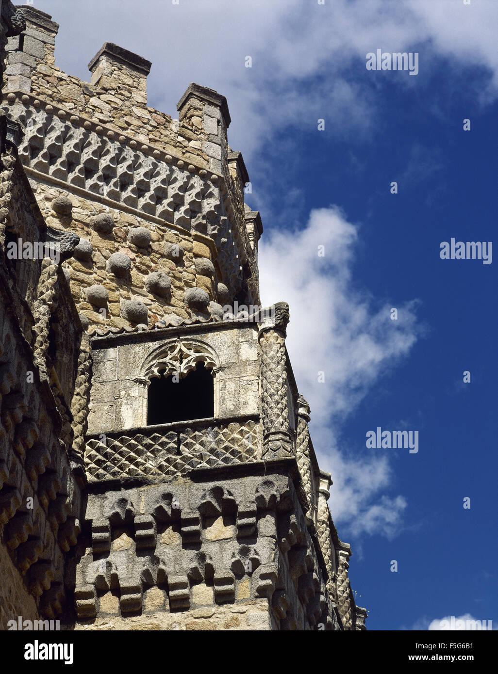 Spain. Manzanares El Real. New Castle of Manzanares el Real. Built in 1475 by Diego Hurtado de Mendoza, son of the Stock Photo