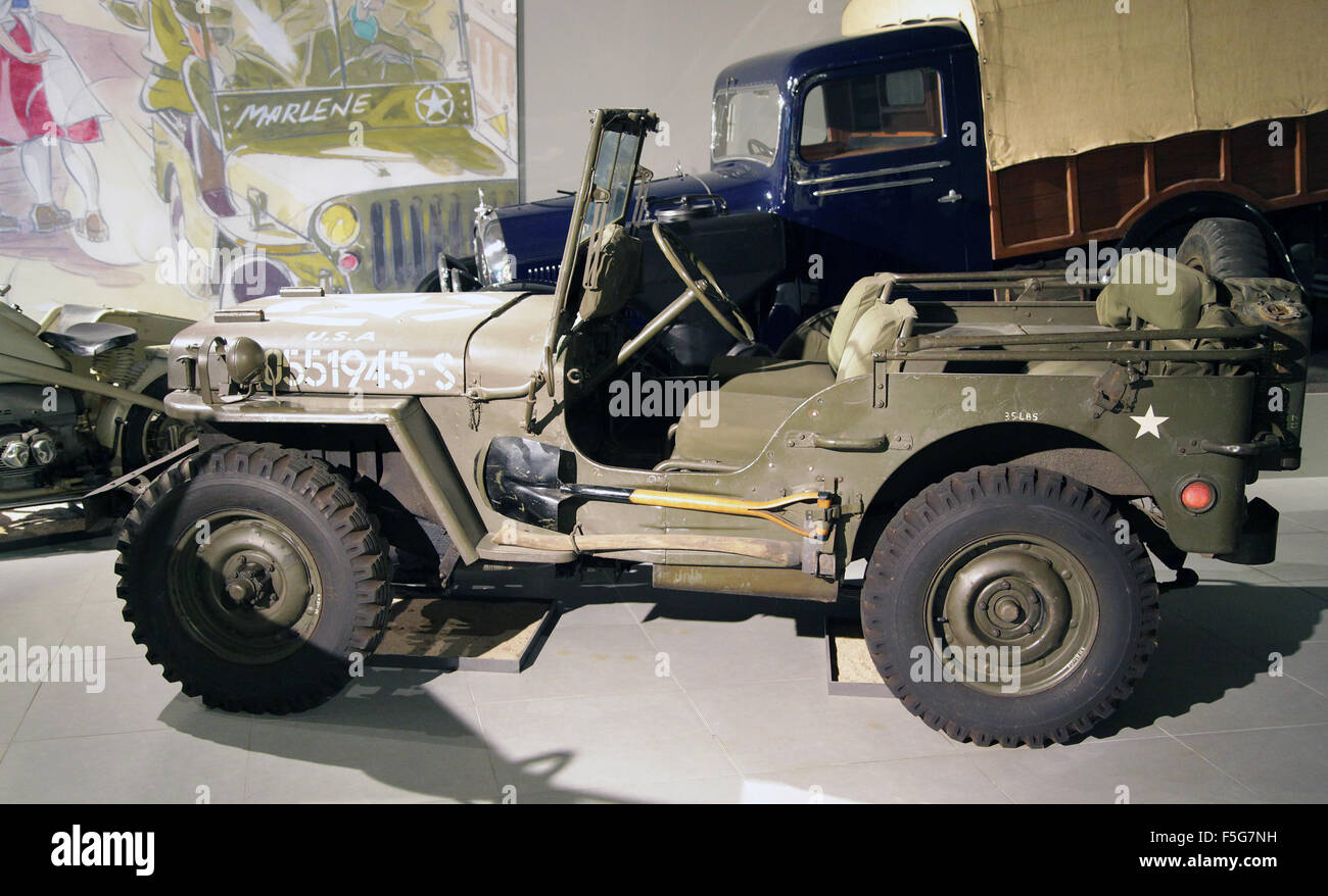 Vintage Veteran car Willys jeep MB 2.2 litre 1944 four cylinder 54 HP - Stock Image