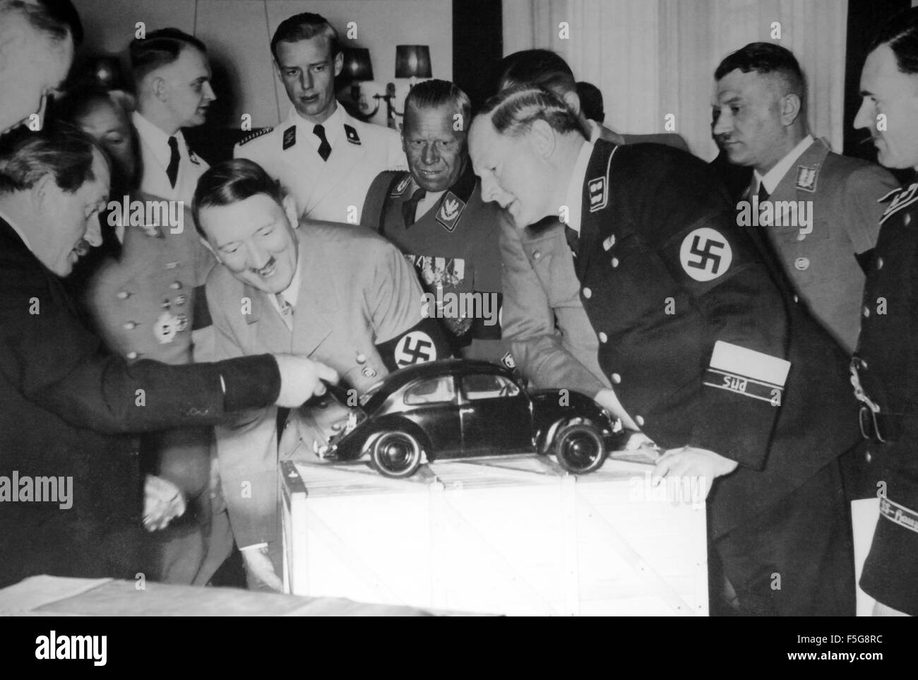 Hitler And Volkswagen Beetle Stock Photo 89483280 Alamy
