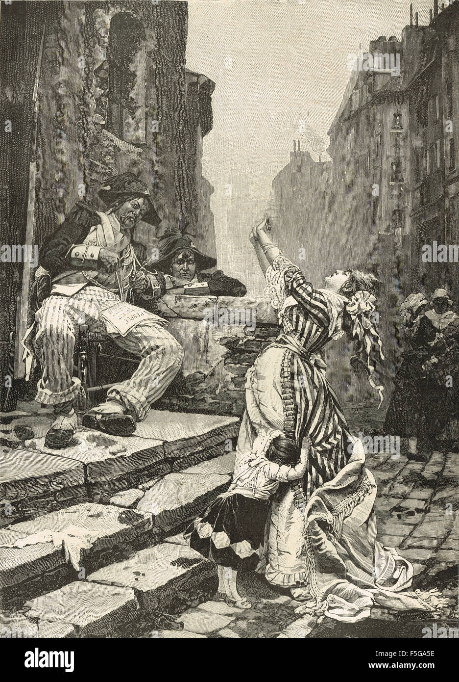 A Vain Appeal The Reign of Terror Paris, France 1793-4 - Stock Image