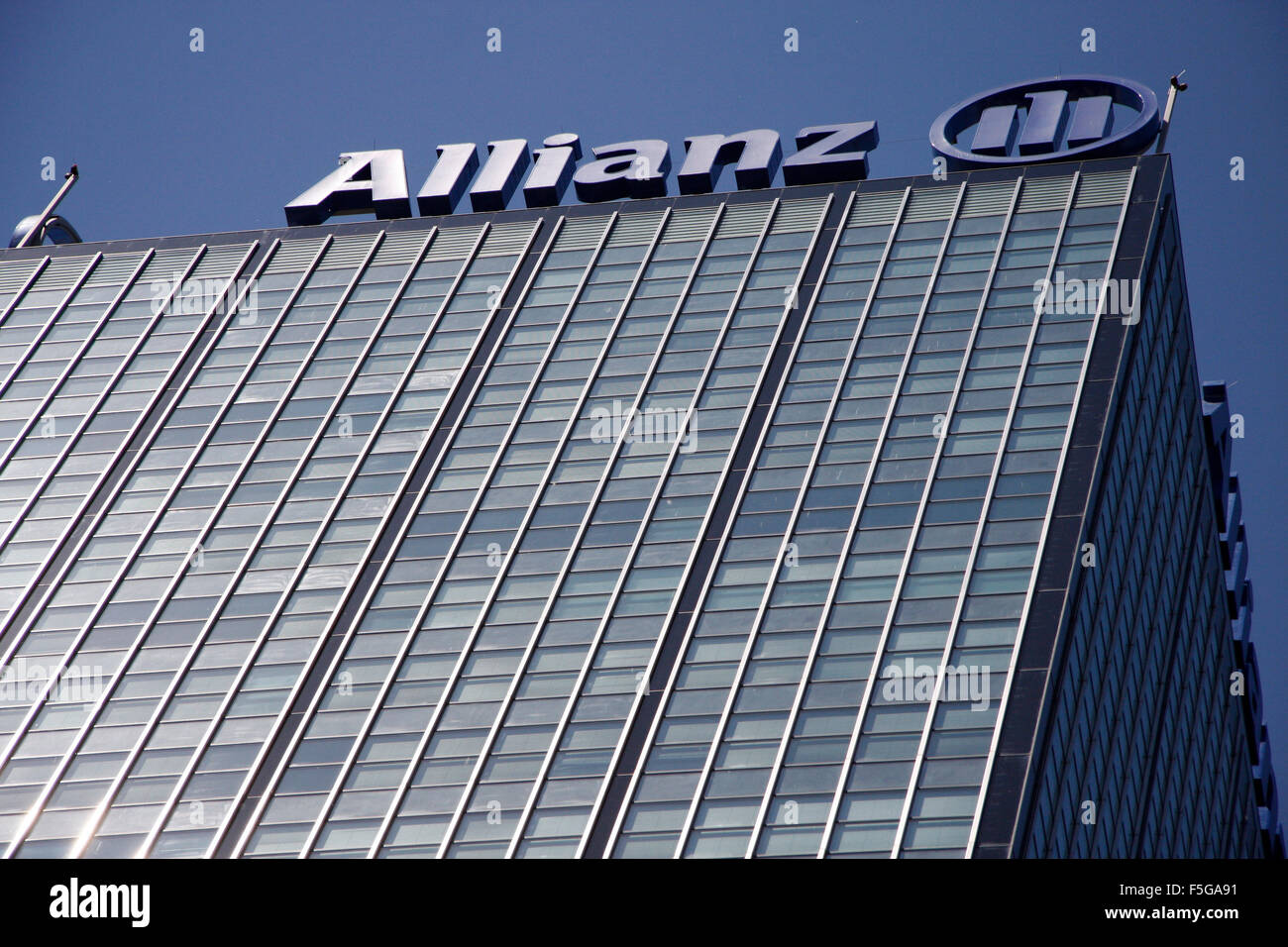 Allianz-Zentrale, Berlin-Treptow. - Stock Image