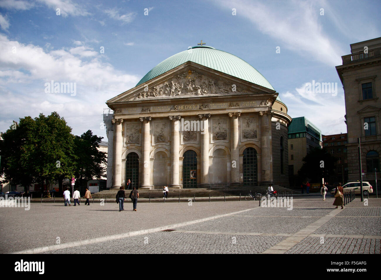 Hedwigskirche, Berlin-Mitte. - Stock Image