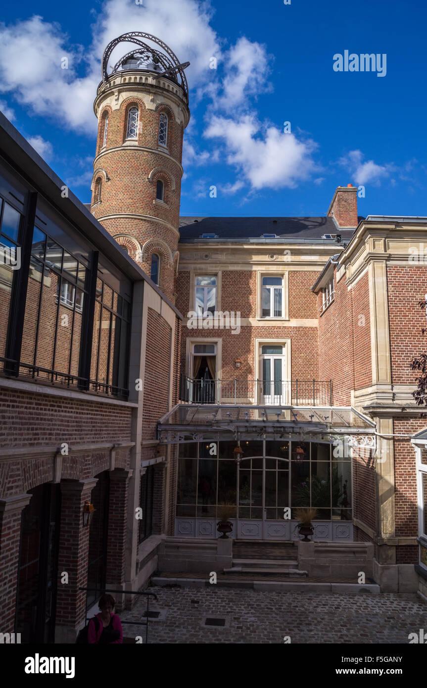 Maison Jules Verne, Jules Verne's house, built 1845-54, Rue Charles Dubois, Amiens, Somme, Picardie, France Stock Photo