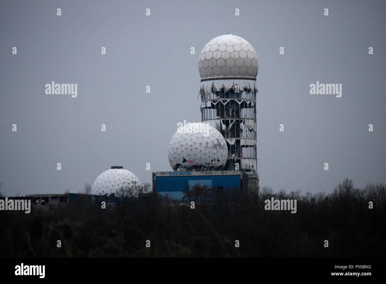 ehemalige US-Abhoeranlagen auf dem Teufelsberg, Berlin-Grunewald. - Stock Image