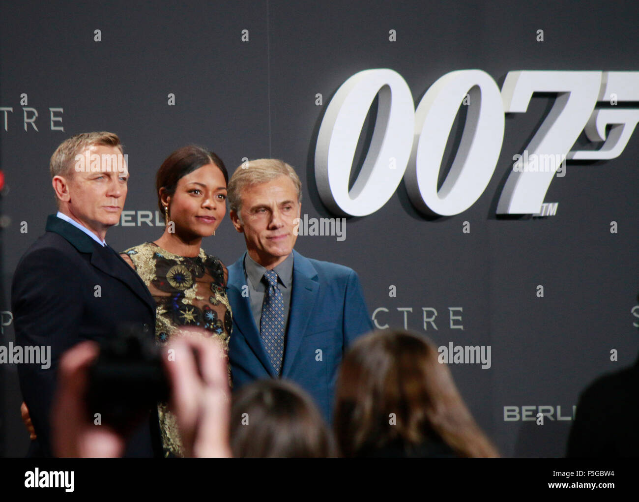 Daniel Craig, Naomie Harris, Christoph Waltz  - Deutschlandpremiere des neuen James Bond 007 Spielfilms 'Spectre', - Stock Image