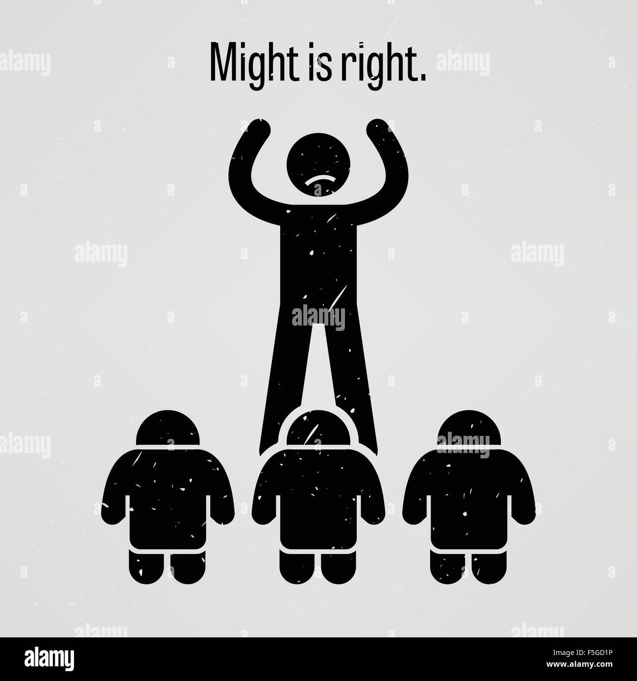 Might is Right - Stock Vector