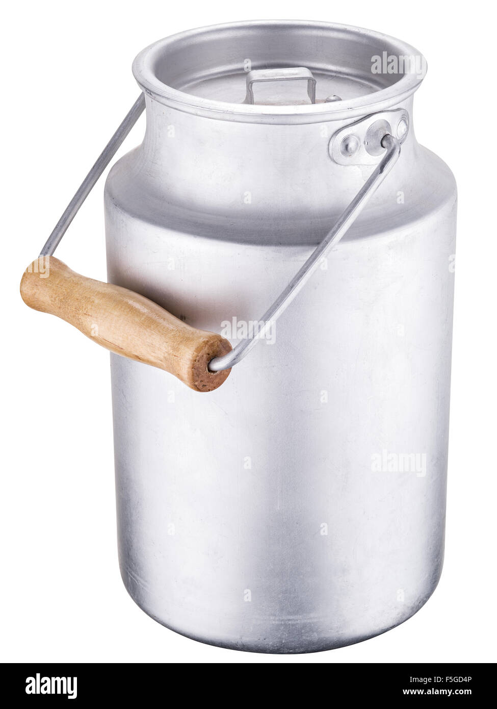 Milk can. File contains clipping paths. - Stock Image