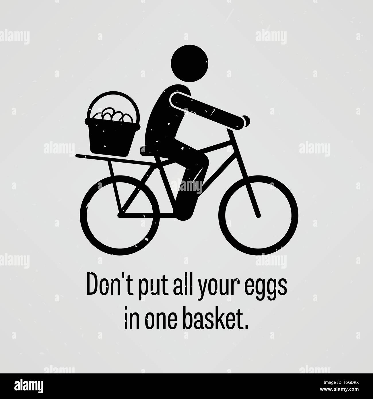 Do not put all your eggs in one basket - Stock Vector