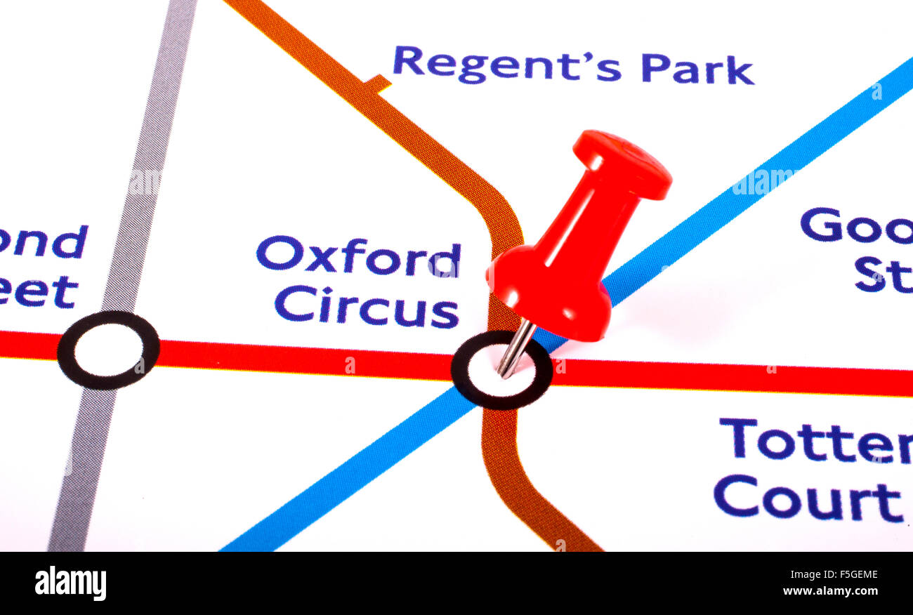 Map London To Oxford.London Uk November 1st 2015 A Map Pin Marking The Location Of