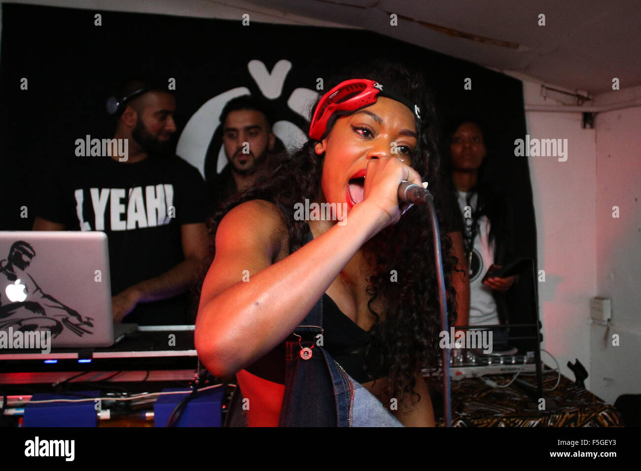 Lady Leshurr performs at Chunk in Leeds, West Yorkshire, UK. - Stock Image