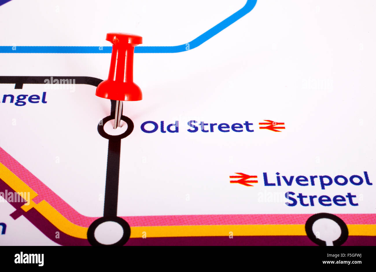 Old Street London Map.London Uk November 1st 2015 A Map Pin Marking The Location Of