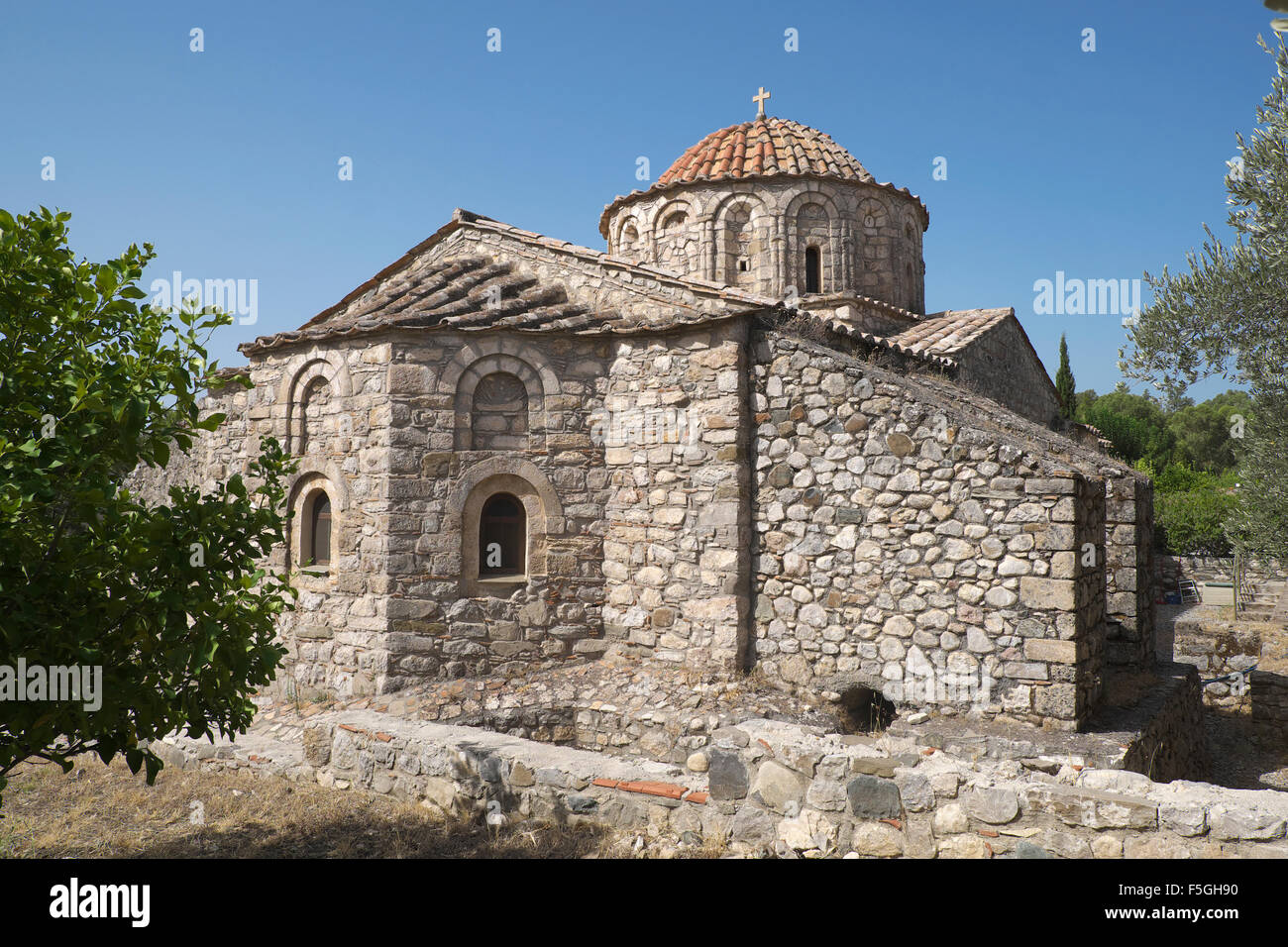Thari monastery, Rhodes, Dodecanese, Greece - Stock Image
