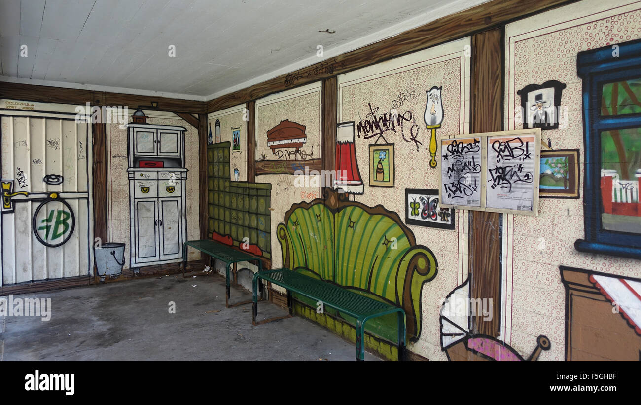 Brandenburg Tram Shelter -1 - Stock Image