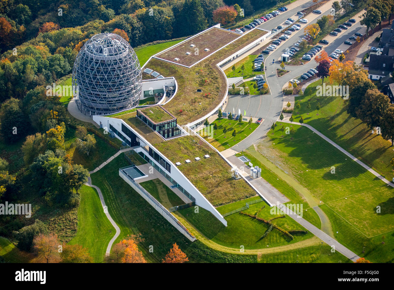 Oversum Vital Resort and tourist information, Winterberg, Sauerland, North Rhine-Westphalia, Germany - Stock Image