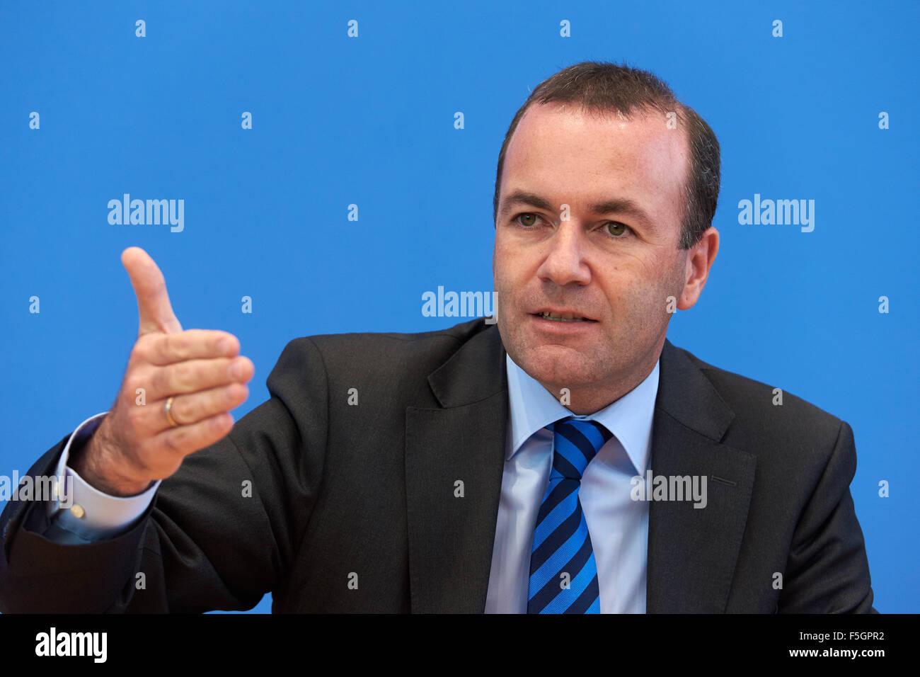 15.09.2015, Berlin, Deutschland - Pressekonferenz zum Thema: Wie Europa die Fluechtlingsdynamik in den Griff bekommt, Stock Photo